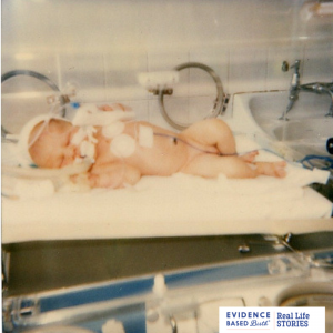 "This photo was taken in 1985 of a baby boy who was diagnosed with a meningitis GBS infection during his first day of life. This was before antibiotics were given during labor for GBS. According to his mom, this baby was a ""fighter"" and miraculously survived. He was diagnosed with a seizure disorder at the age of 11."