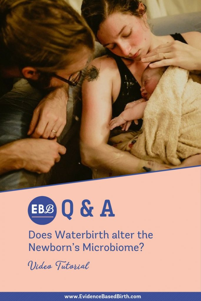 Evidence Based Birth® | Waterbirth Microbiome Pinterest (New)