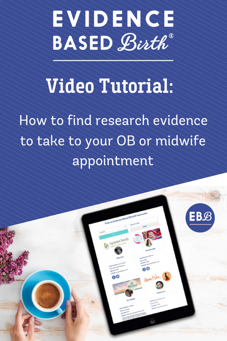 How to Find Evidence using the Cochrane Library